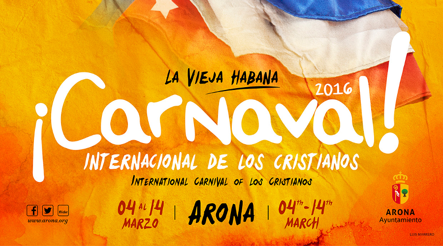 Karnevalsprogram för karnevalen i Los Cristianos