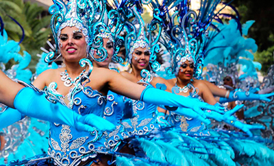 Karneval på Teneriffa i Santa Cruz