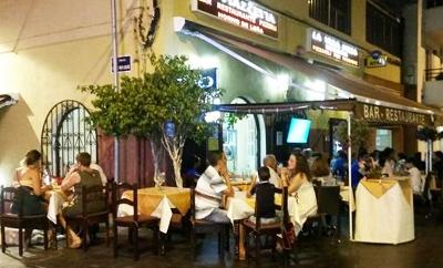 La Piazzetta restaurang på Teneriffa