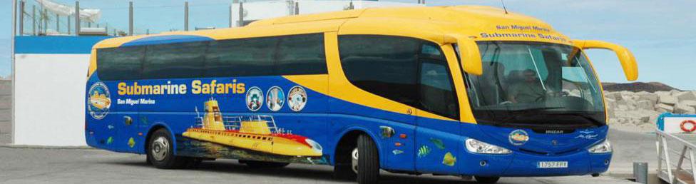 Ubåtsbussen på Teneriffa