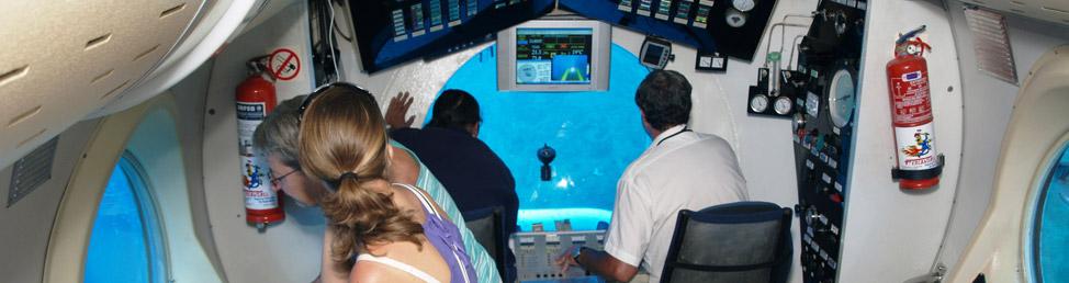 Inne i ubåten på Teneriffa